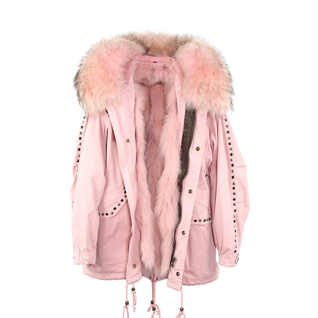 Mix & Match Parka Mix & Match Studded Oversized Short Parka-Mix & Match Short Parka- onlyours.de
