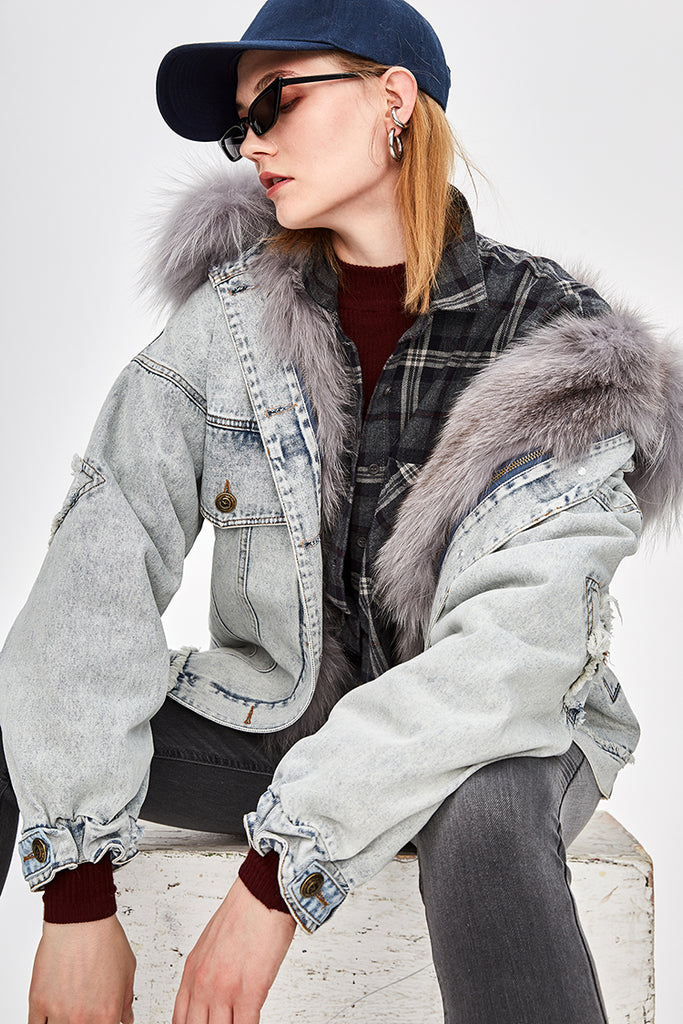 Mix & Match Parka Mix & Match Denim Bomberjacket-Bomberjacket- onlyours.de