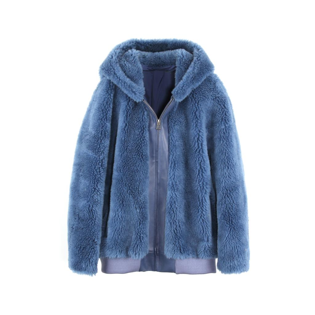 Mix & Match Parka Sheep Fur Teddy Bomberjacket-Bomberjacket- onlyours.de