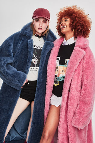Mix & Match Parka Long Oversized Sheep Fur Teddy Coat-Coat- onlyours.de