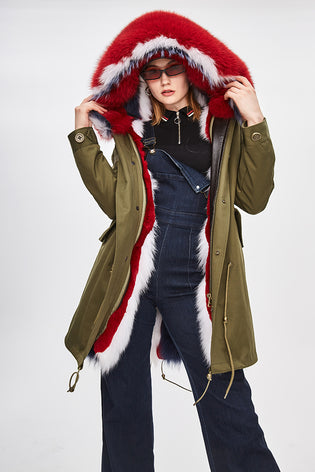 Mix & Match Parka Mix & Match Long Parka Christmas Edition-Mix & Match Long Parka- onlyours.de