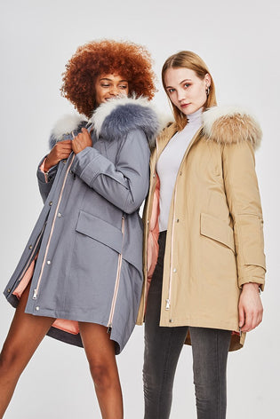 Mix & Match Parka Down Pastel Waterproof Parka-Mix & Match Short Parka- onlyours.de