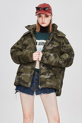 Mix & Match Parka Oversized Short Down Jacket-Jacket- onlyours.de