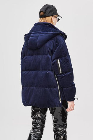 Mix & Match Parka Oversized Short Velvet Down Jacket-Jacket- onlyours.de