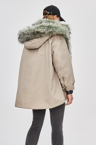 Mix & Match Parka Mix & Match Short Oversized Parka-Mix & Match Short Parka- onlyours.de