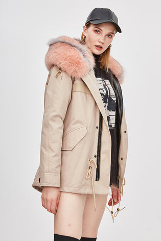 Mix & Match Parka Mix & Match Waterproof Beige Limited Edition-Mix & Match Short Parka- onlyours.de