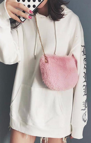 Mix & Match Parka Small Fluffy Crossbody Bag-Accessoires- onlyours.de