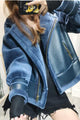 Mix & Match Parka PU Leather Jacket Tight Sleeve-Leather Jacket- onlyours.de