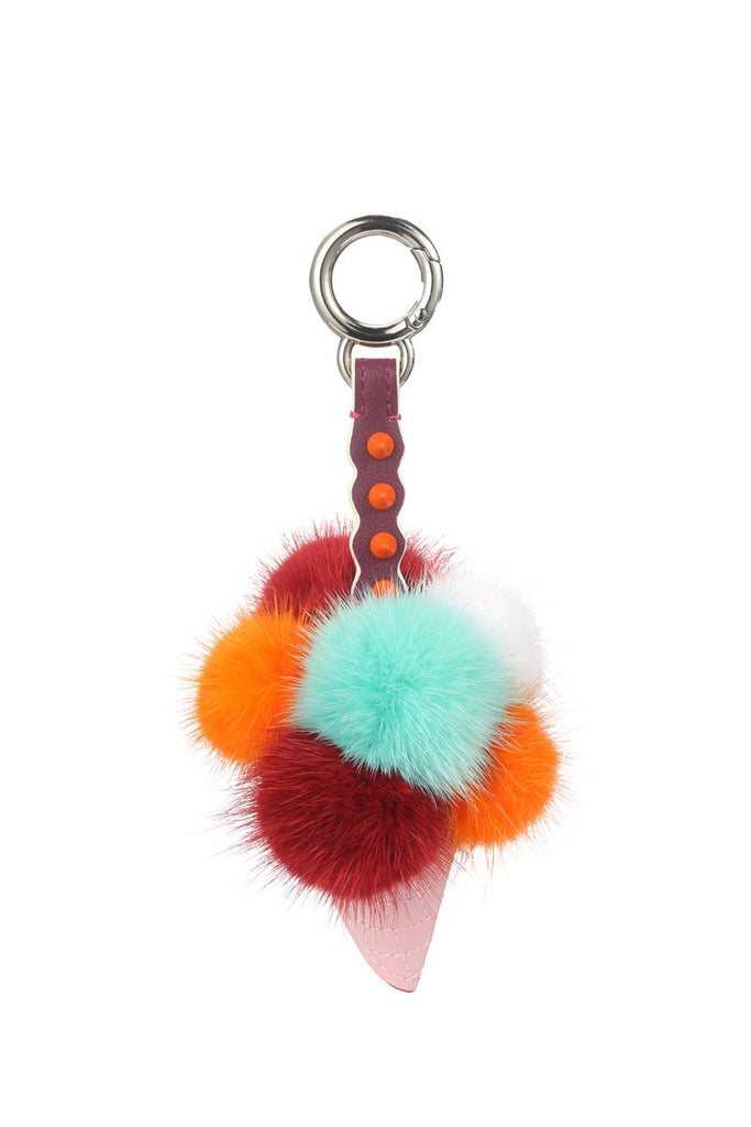 Mix & Match Parka Real Leather + Mink Fur Pendant-Accessoires- onlyours.de