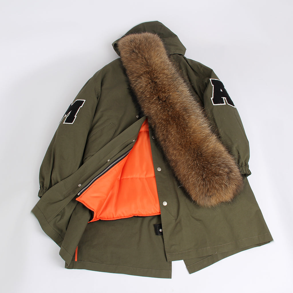 Mix & Match Parka College Parka with XXL Collar-Mix & Match Long Parka- onlyours.de
