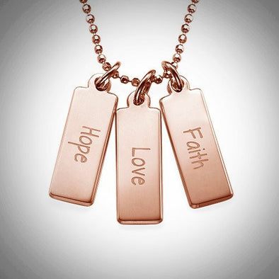 Inspirational Necklace (Hope, Love Faith)