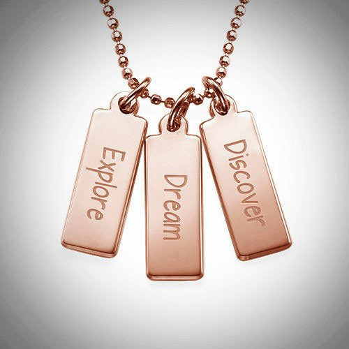 Inspirational Necklace (Discover, Dream, Hope)
