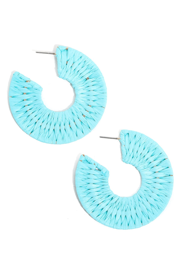 Braided Flat Hoop Earrings