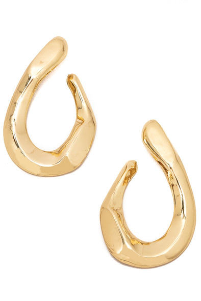 Warped Thick Tear Drop Earrings