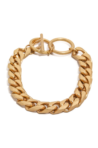 Cuban Link Ring Lock Bracelet