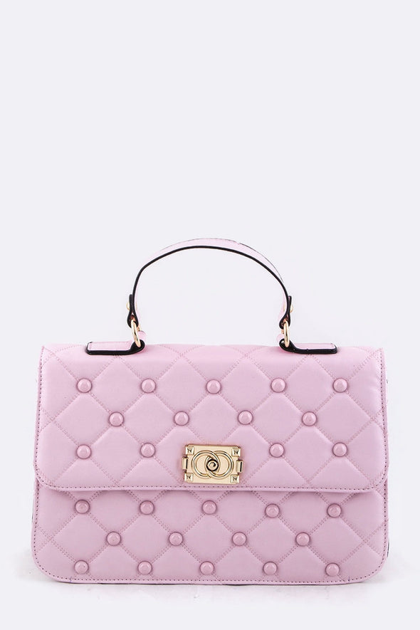 Studded Quilt Iconic Handbag