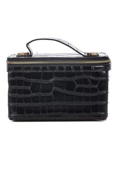 Faux Alligator Skin Brick Bag