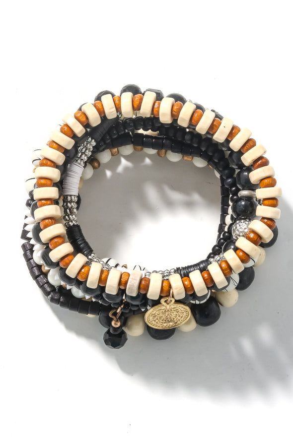 Ivory Coast Mixed Beaded Bracelet Set