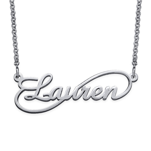 14K Infinity Style Name Necklace ( Silver)