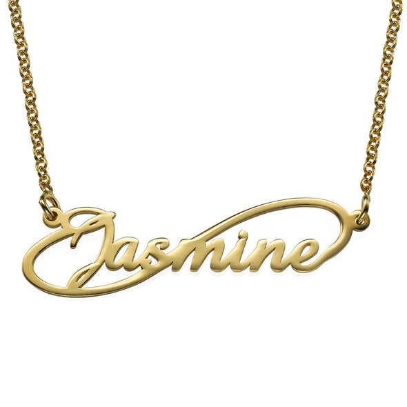 14K Infinity Style Name Necklace (Gold)