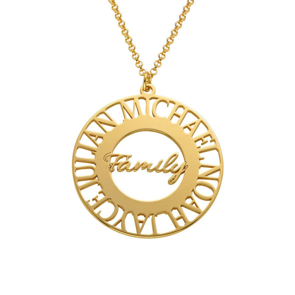 Family Circle Necklace in Plating