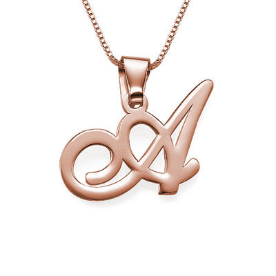 Initial Necklace (Rose Gold)