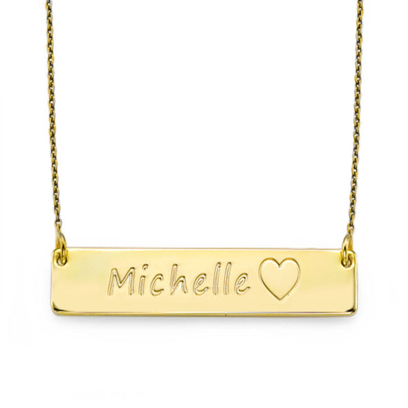 18k Gold Plated Necklace with Icons