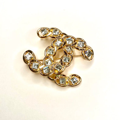 Vintage Double C Inspired Brooch