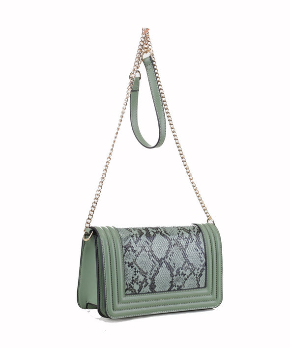 Weekend Snakeskin Crossbody Bag