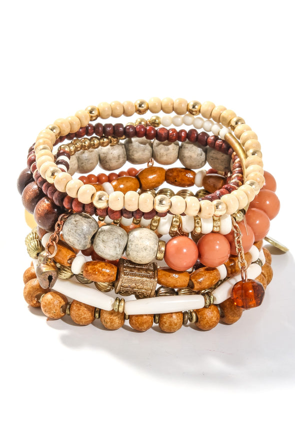 Moroccan  Mami Stacked Bracelets