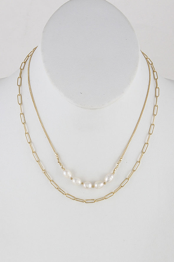 Layers and Pearls Necklace