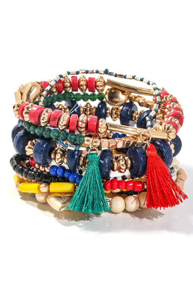 Colorful Beaded Bracelets Set