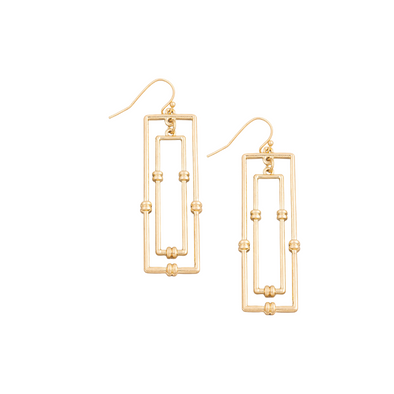 Layered Rectangle Earrings