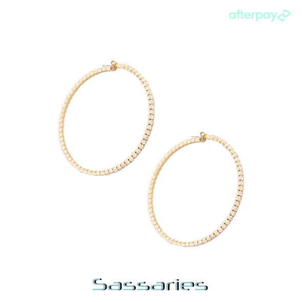 Medium Rhinestone Hoops