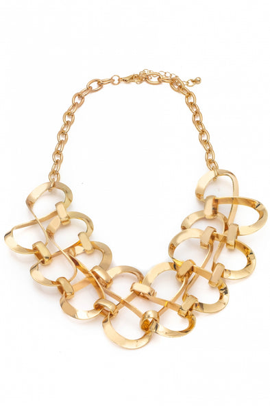 Multi Twist Chain Statement Necklace