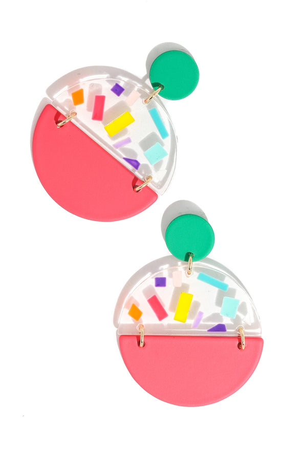 Vibrant Disc Drop Earrings