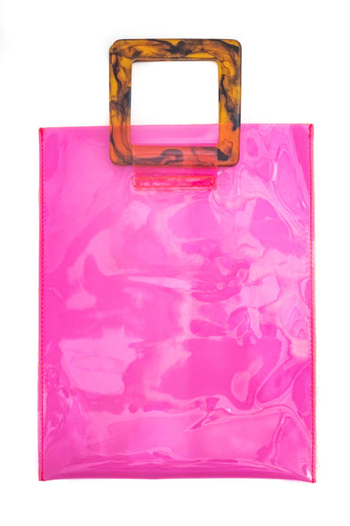 Transparent Rectangular Tote Bag