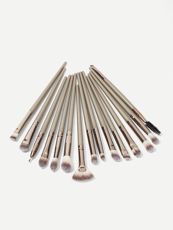 Metallic Duo-Fiber Makeup Brushes Set