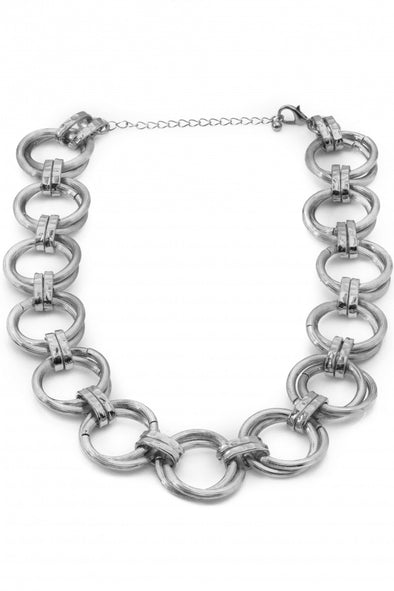 Stacked Multi Chain Link Necklace