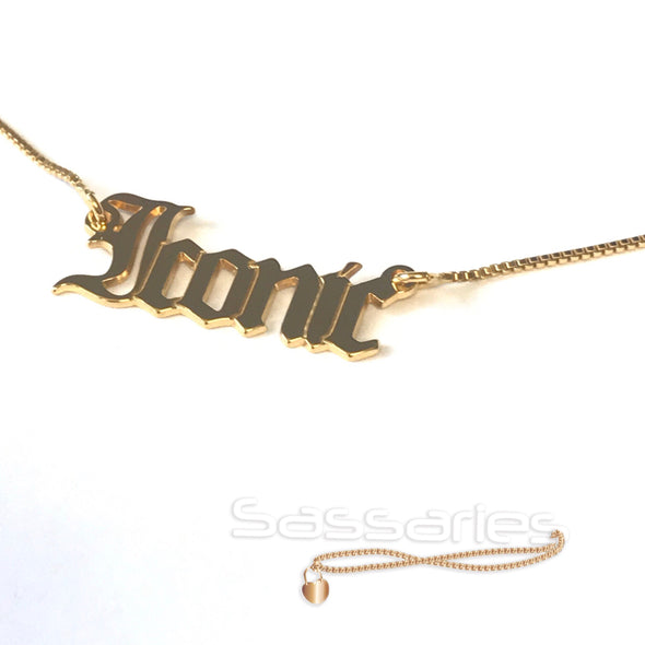 Iconic Name Necklace (Gold)