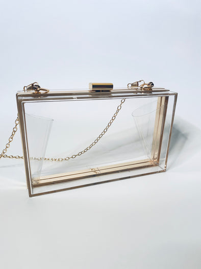 Transparent Chain Clutch Bag