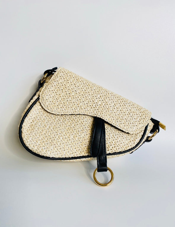 Saddle Woven Tote Bag