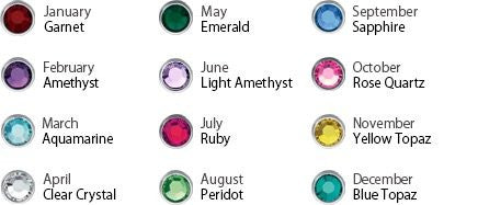 Couples Birthstone Necklace