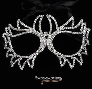 Rhinestone Doves Mask