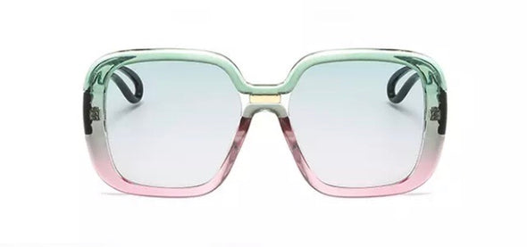 Pink/Green Square Sunglasses