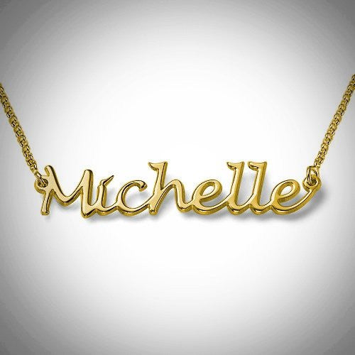 Handwritten Name Necklace/  HASHTAG NECKLACE  (Gold)