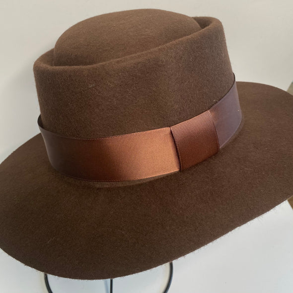 Wool Fedora with Ribbon