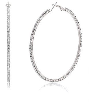 Large Bling Hoops