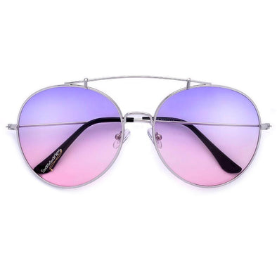 Round Top Aviators (Purple/Pink)