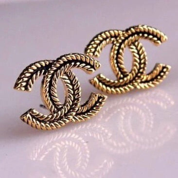 Double C Vintage Earrings